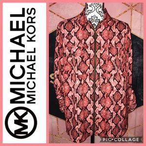 MICHAEL Michael Kors • printed utility blouse